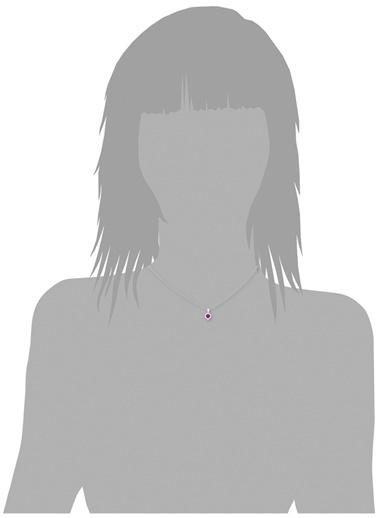 Amor A 2021186 925 Ayar Zirkonlu Kalp Kadın Kolye Renksiz